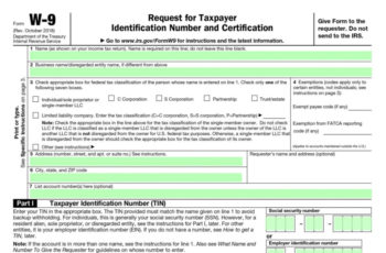 2021 W9 Form Fill Out Online