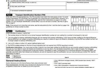 Free W9 Tax Form Download