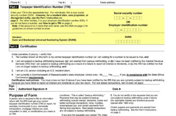Mass Gov Printable W9 Form 2021