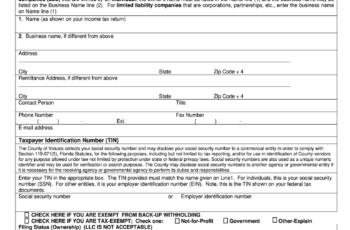 Printable W9 Form Microsoft Word