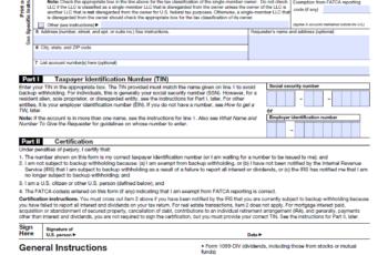 W9 2021 Form Printable