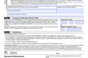 W9 Printable Form For 2021 IRS